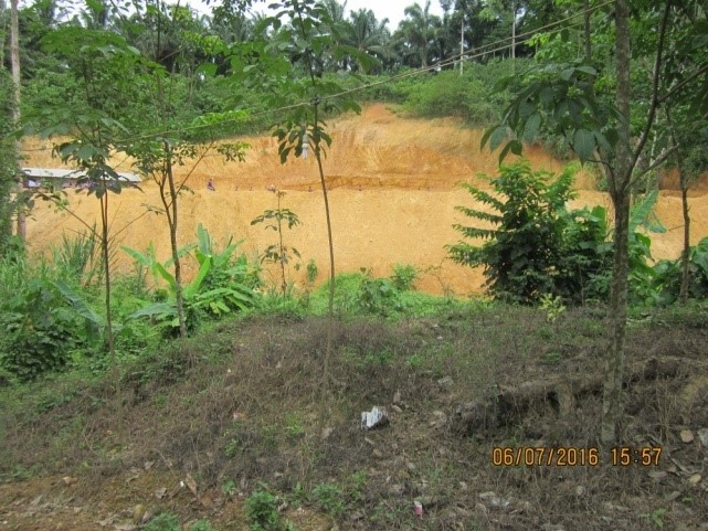 บริเวณที่ก่อสร้างทำนบ